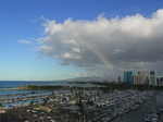 ヒルトンラグーンタワーL1568号室から眺める虹1.JPG