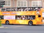ワイキキトロリーピンクライン2階建バス.JPG