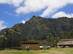 ワイマナロビーチパークから望むコオラウ山脈.JPG