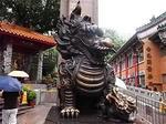 香港黄大仙寺院麒麟像1.JPG