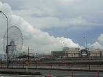 桜木町方面から望む横浜ワールドポーターズ.JPG
