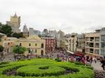 聖ポール天主堂跡から見るマカオ市内.JPG